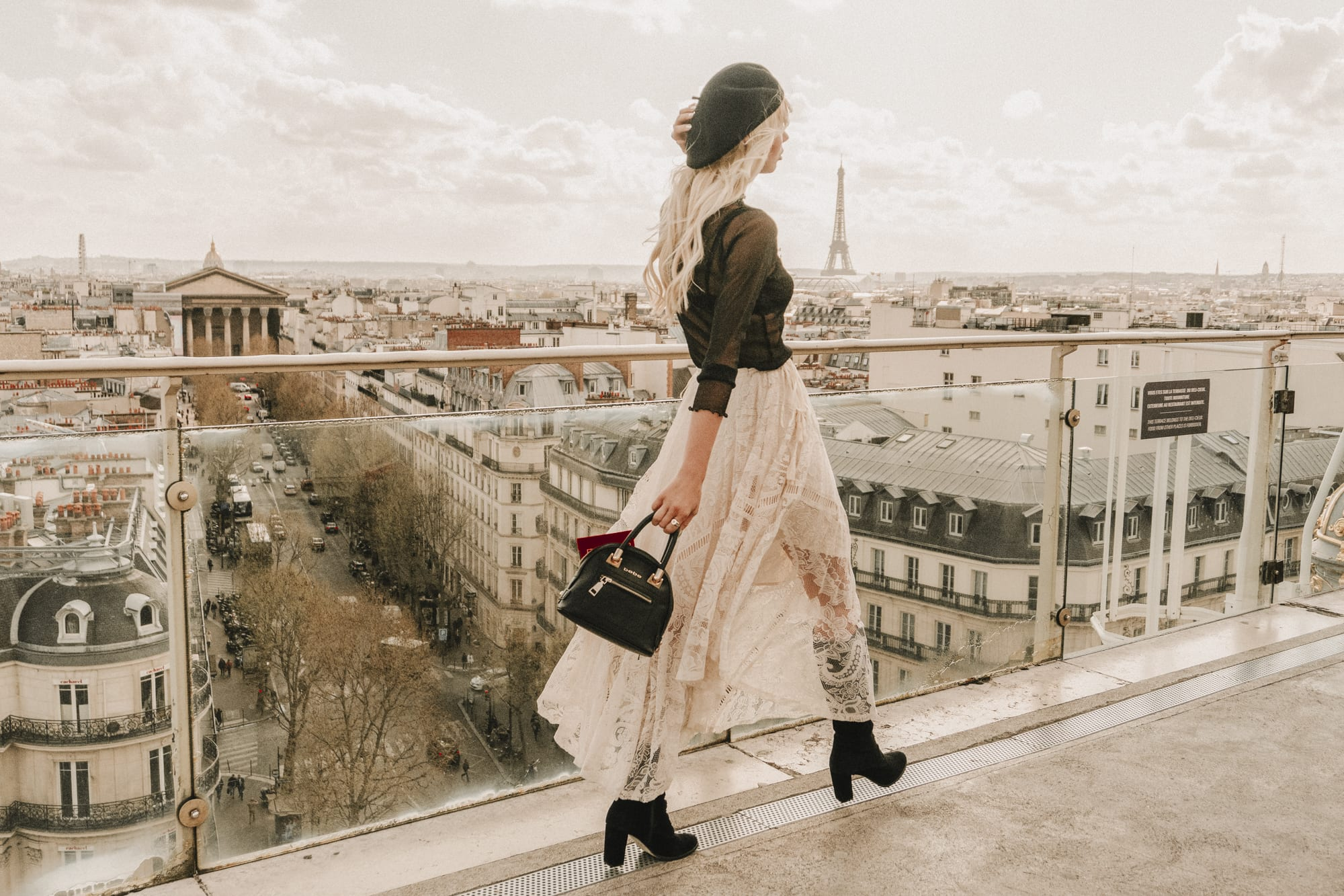 chic French style at Printemps terrace, Paris