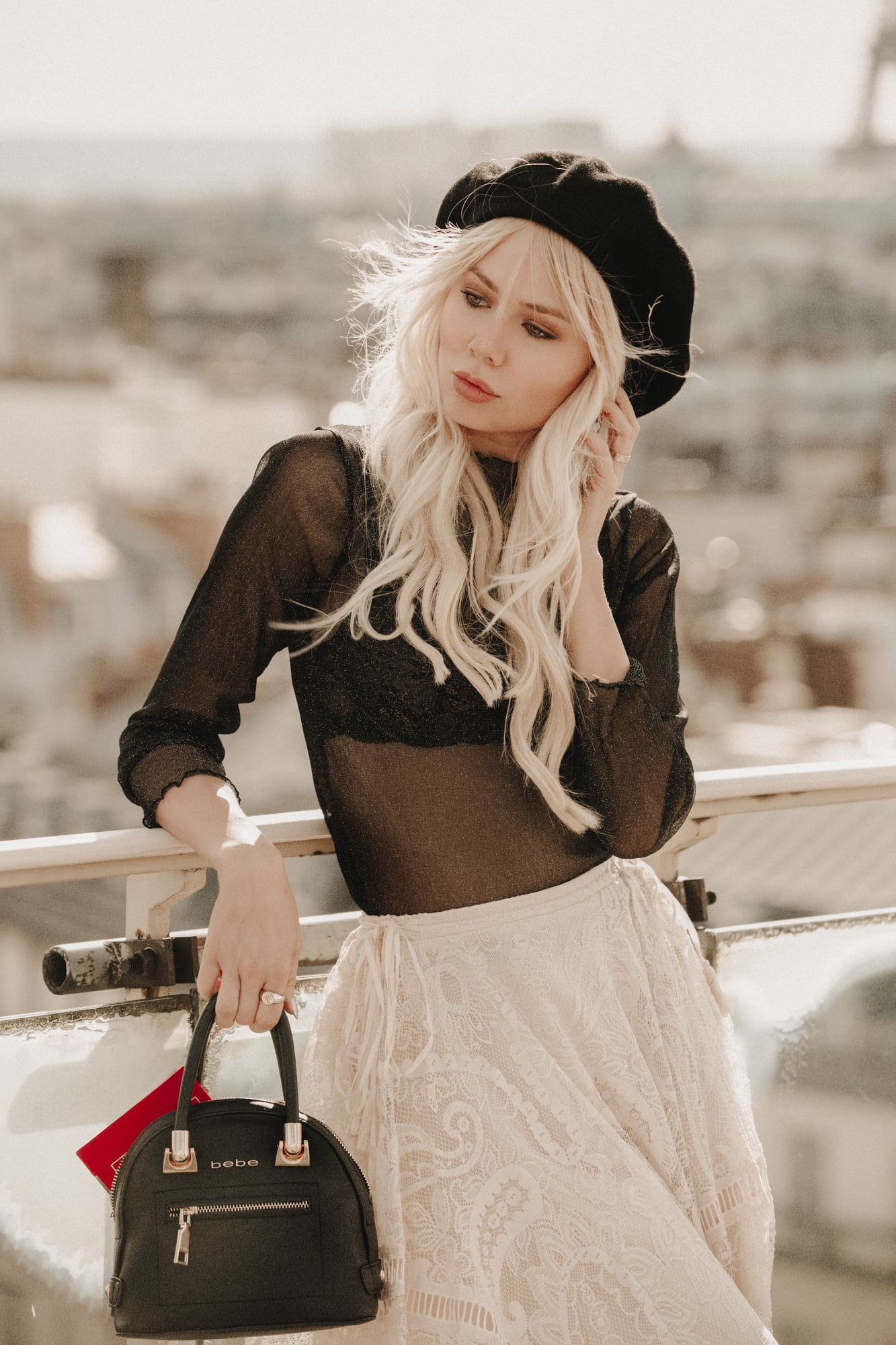 Sarah Loven wearing Spell French boho in Paris