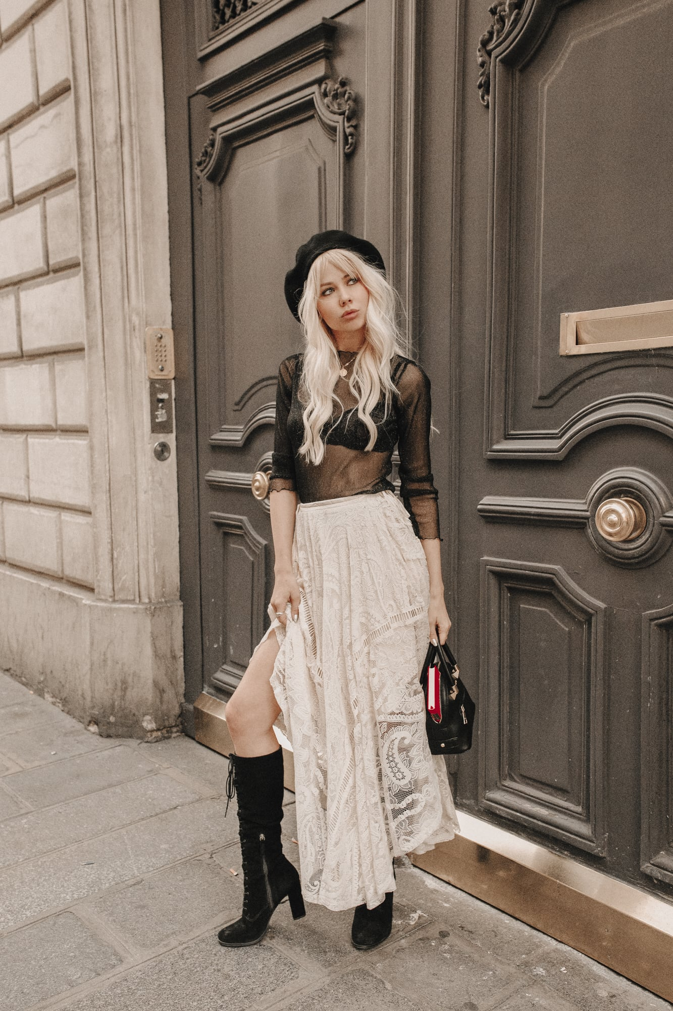 Sarah Loven luxe chic Paris street style