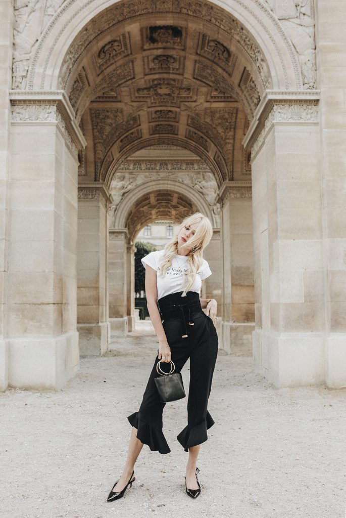 Sarah Loven the Louvre, Paris Fashion Week