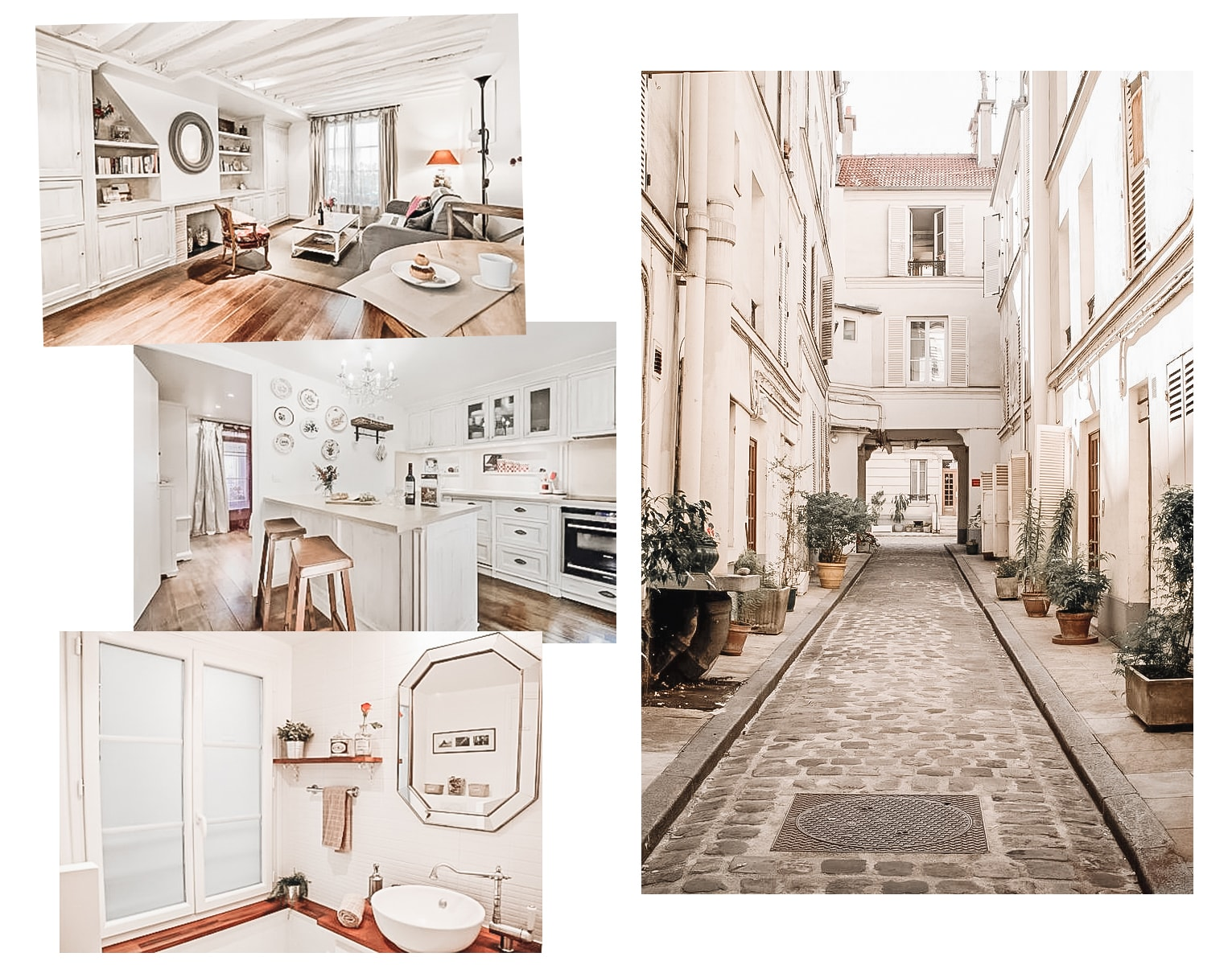 rooms at cobblestone Paris rental apartment