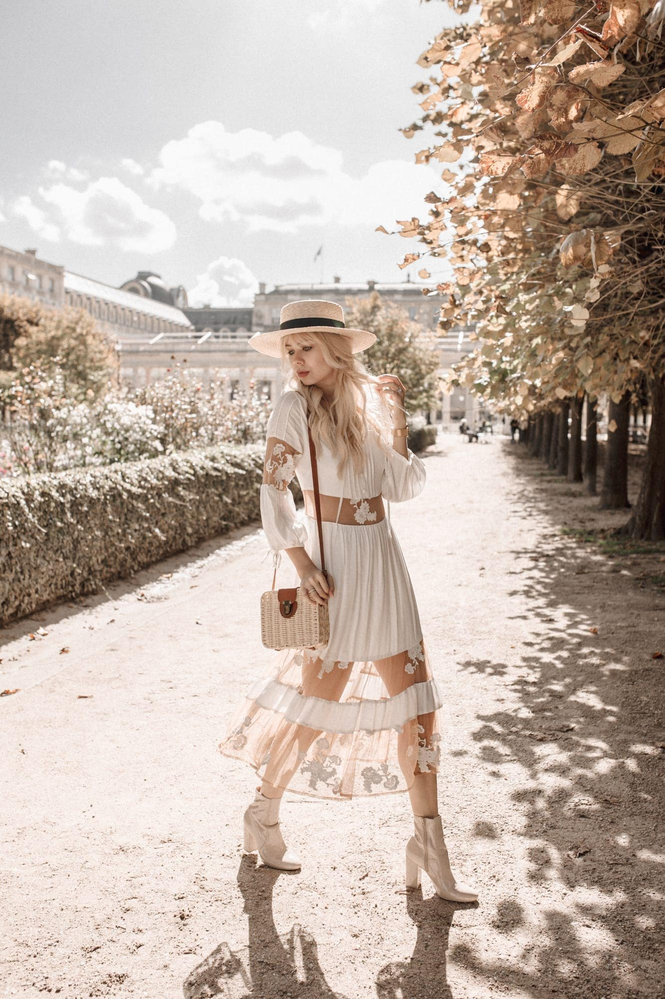 Sarah Loven at Palais Royal in the Fall