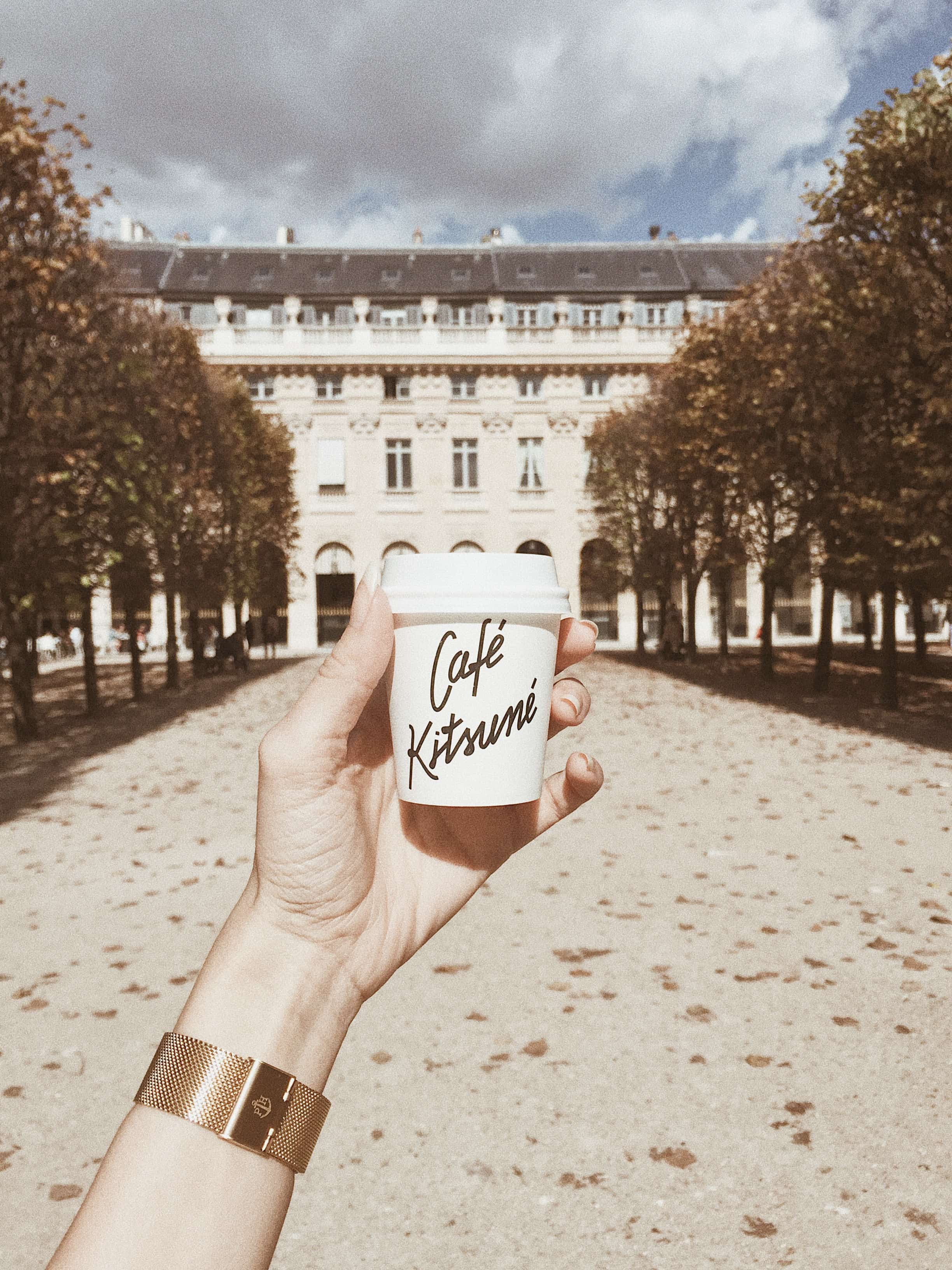 cafe kitsune cup in Paris