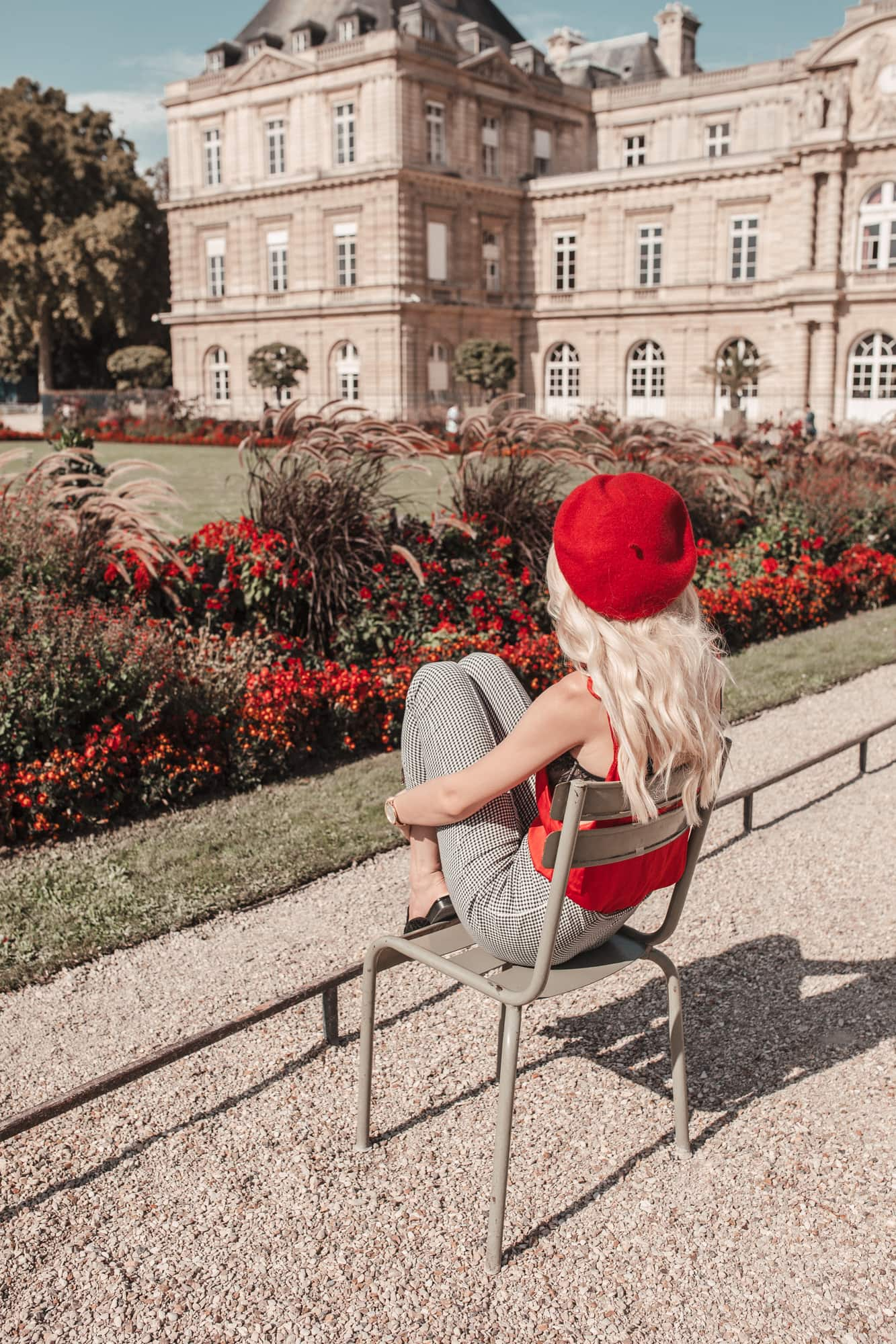 red beret in Paris