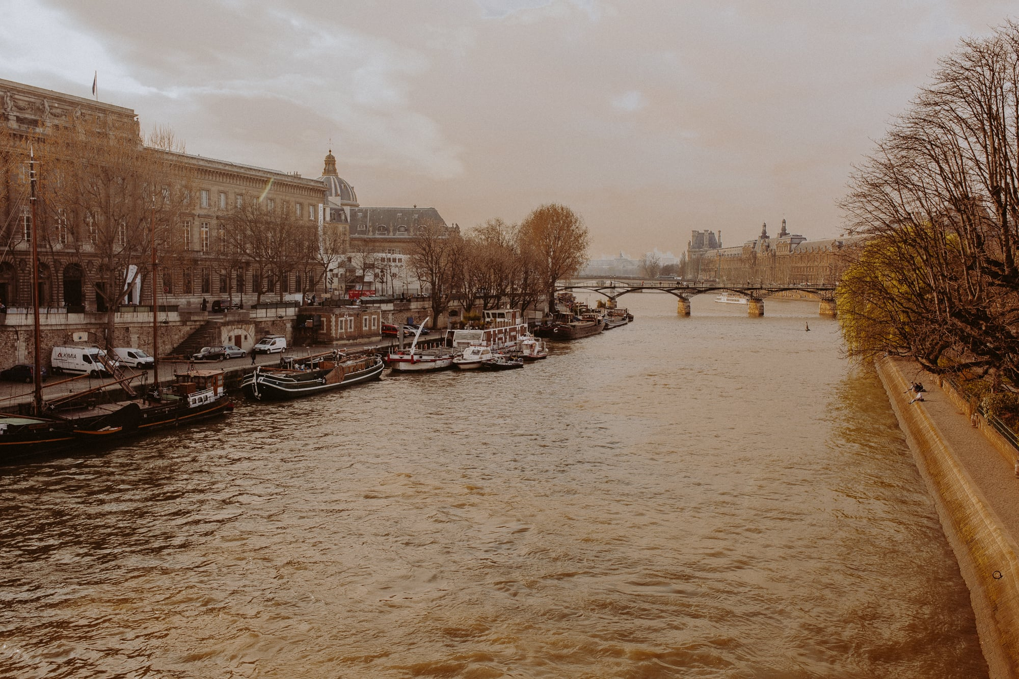 Fall at La River Seine, Paris