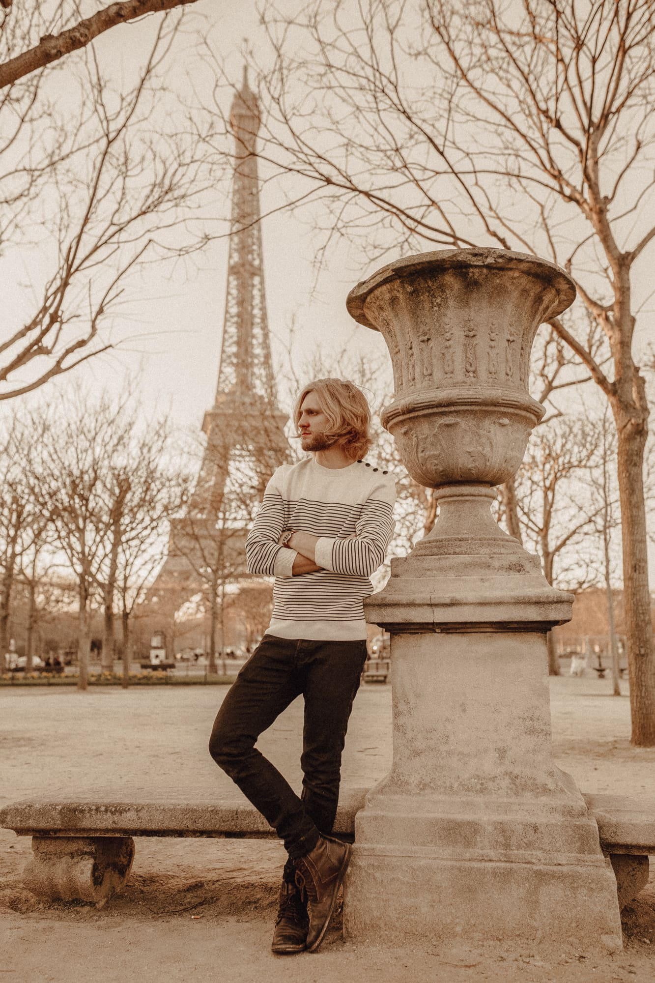 Josh, Nextdoornomad at Eiffel Tower
