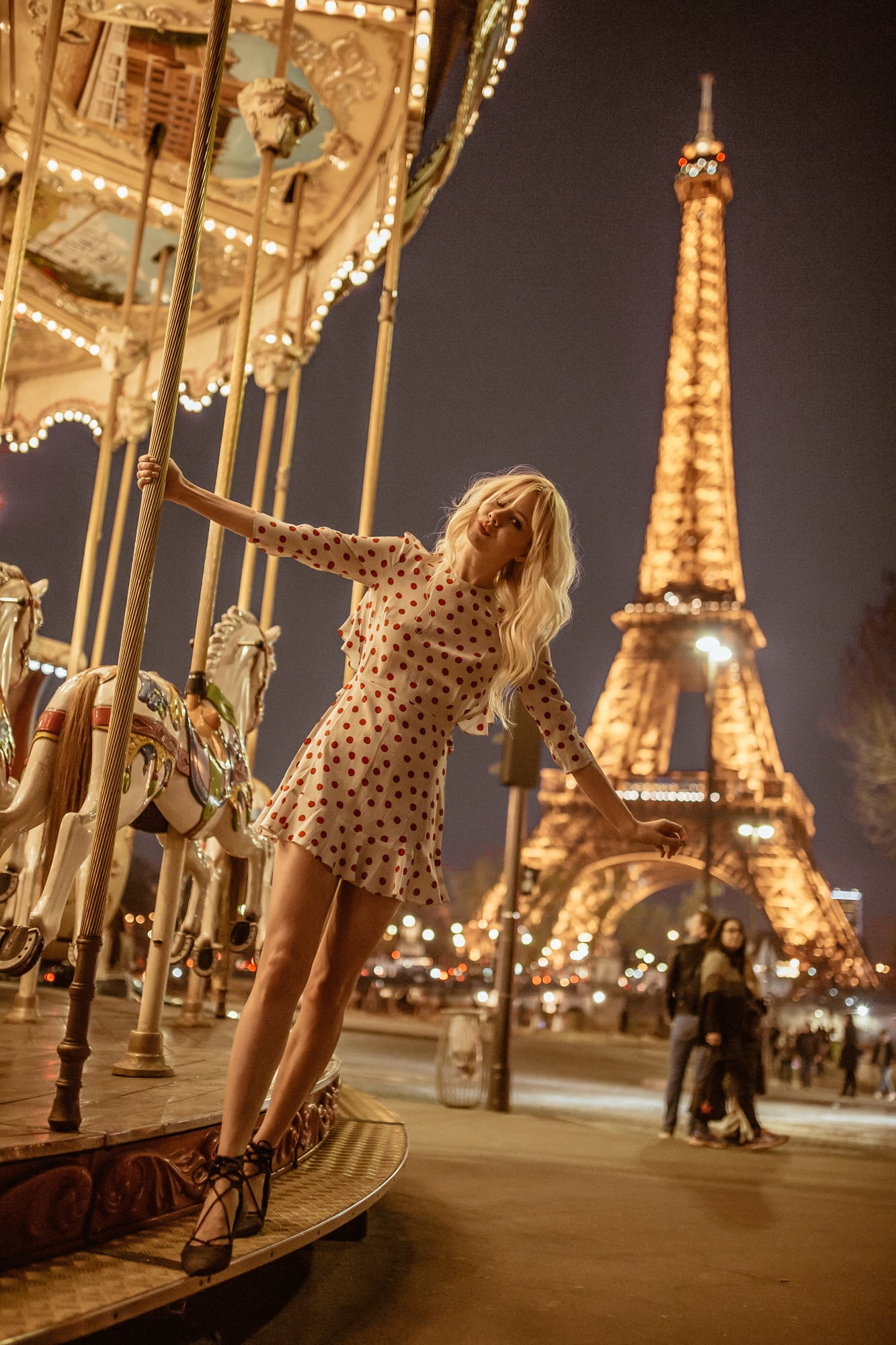 jetsetlust at the carousel by Eiffel Tower