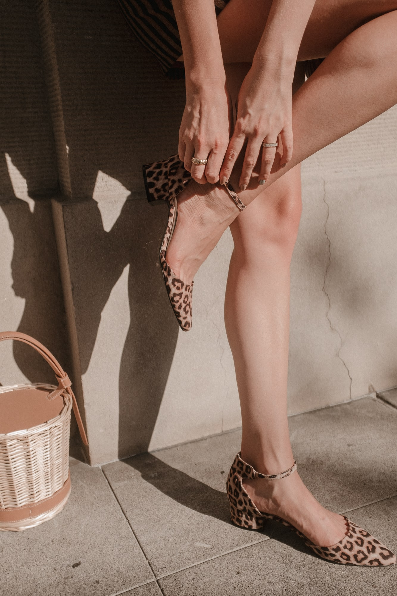 leopard pointed toe kitten heels