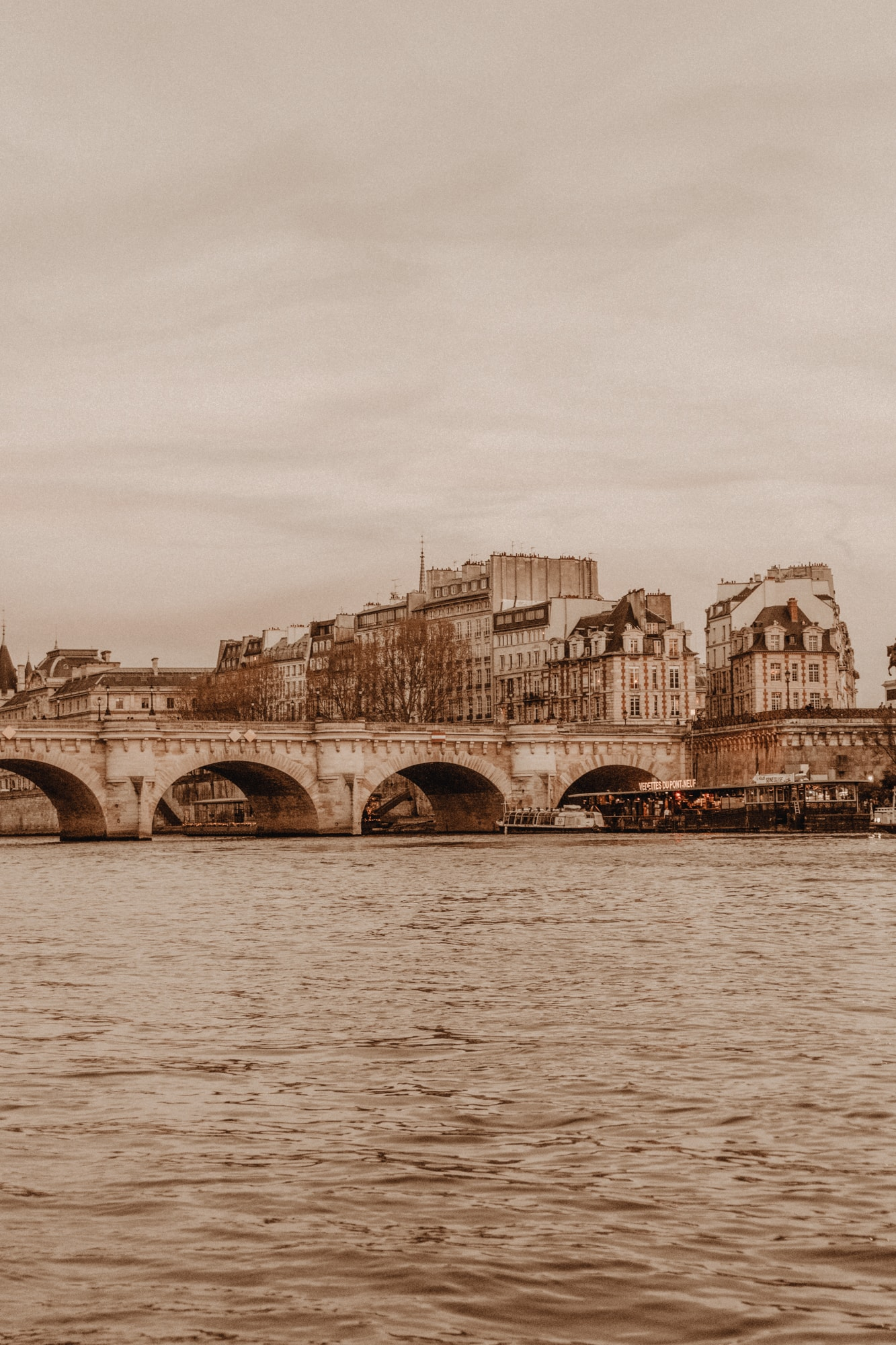 River Seine, Paris at sunset