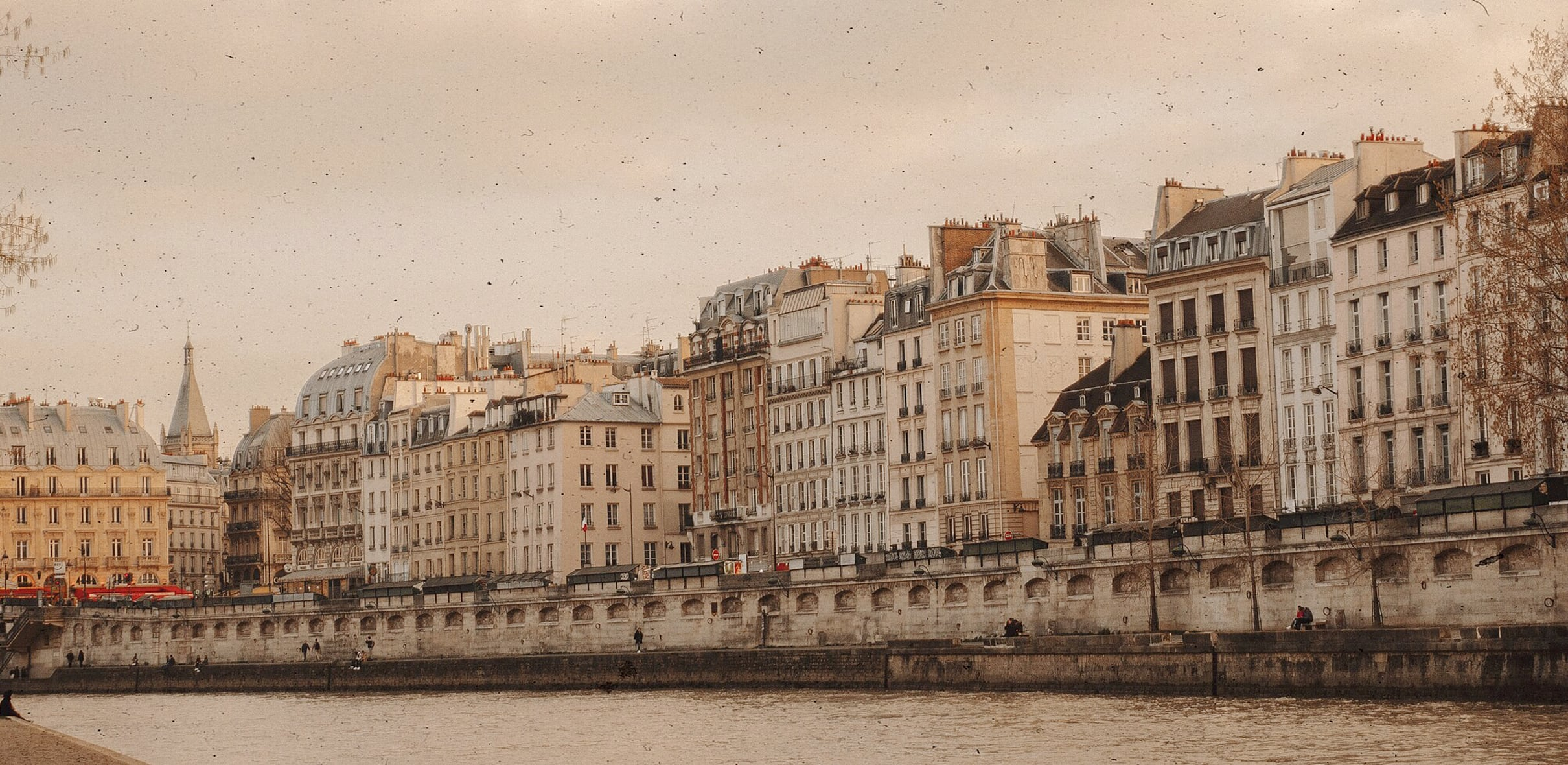 seine river paris banner