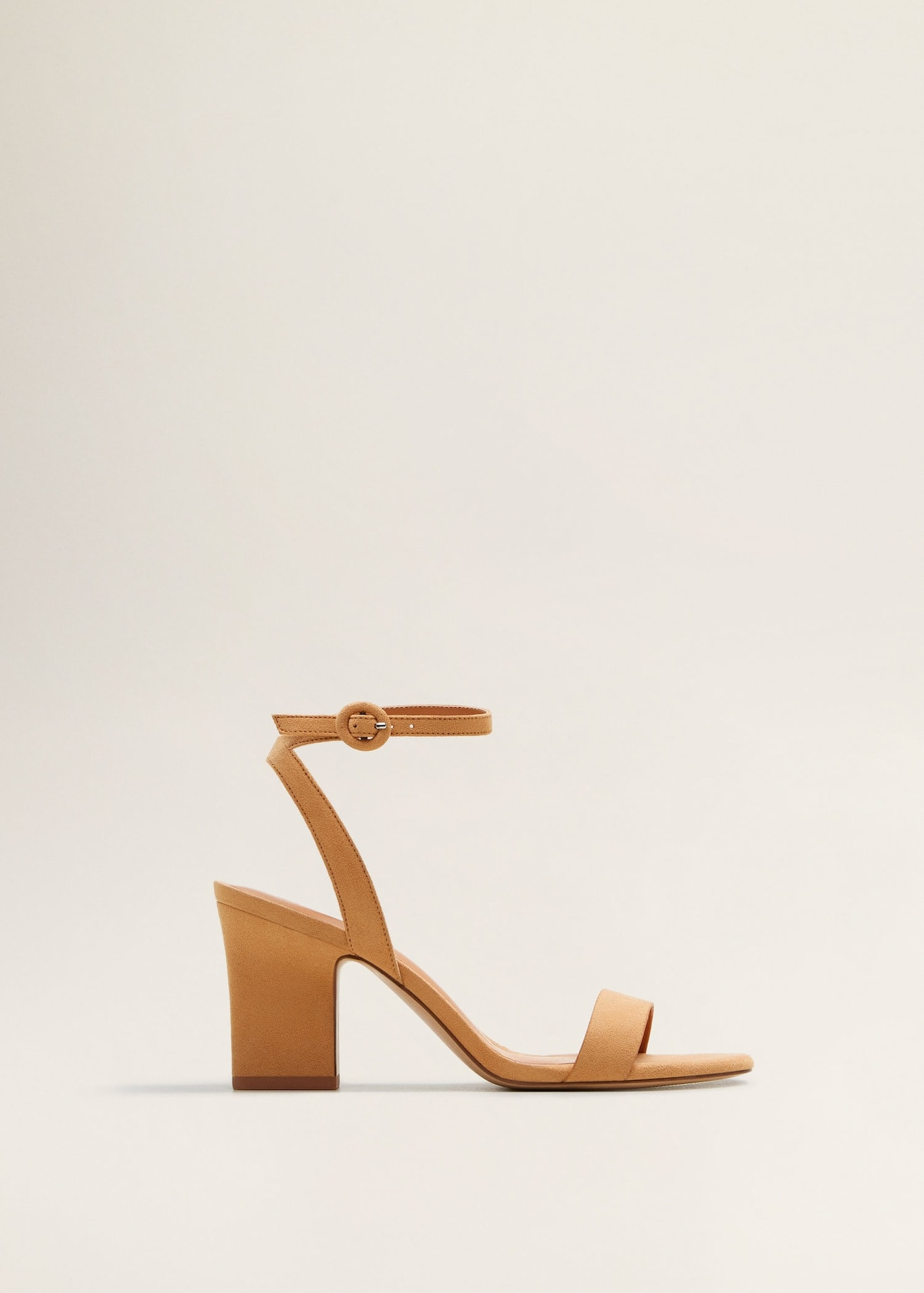 Ankle Cuff Sandals in nude