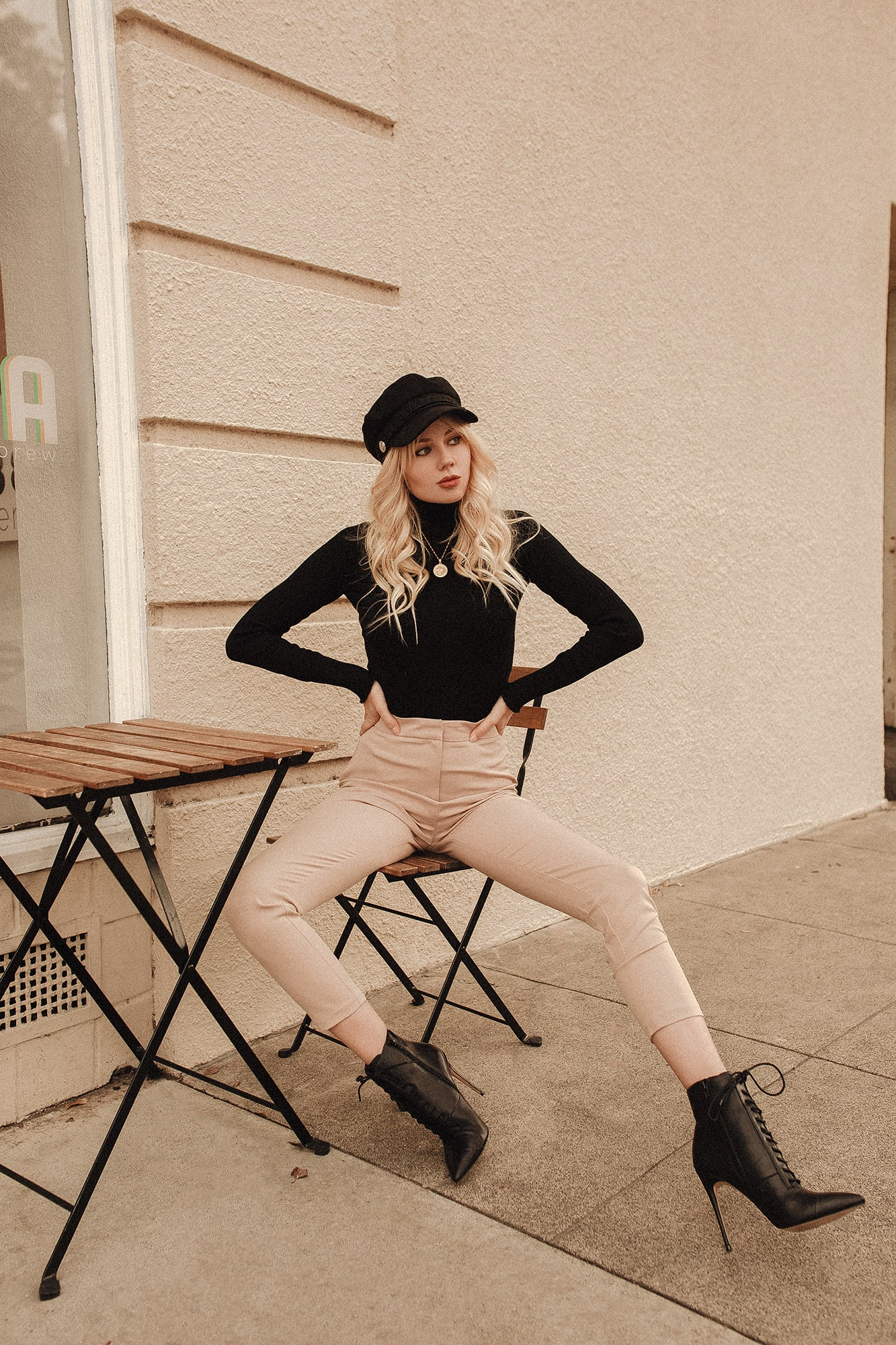 Shop Sarah Loven Beige Trousers
