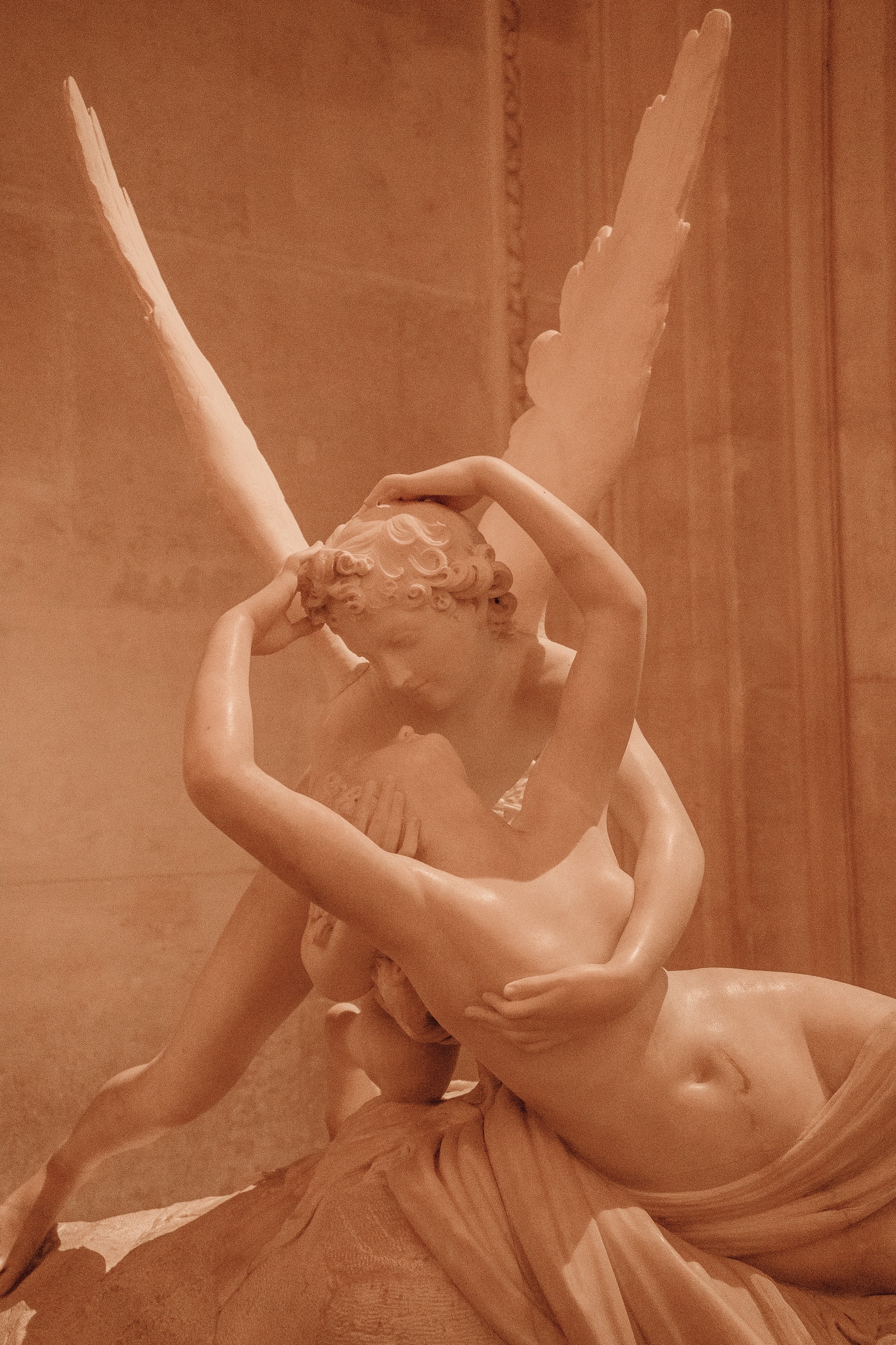 Cupid and Psyche sculpture at the Louvre