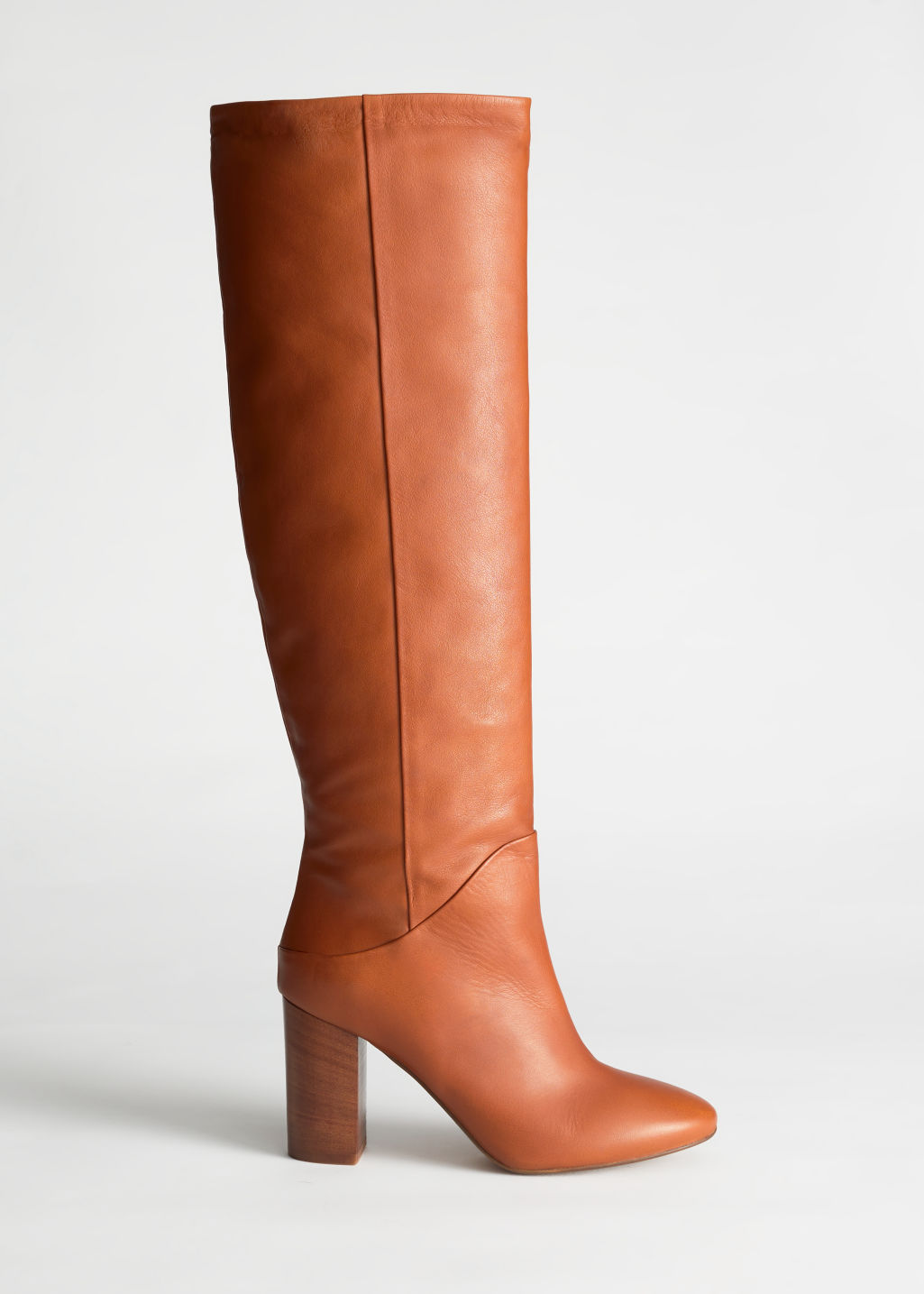 & Other Stories Camel Leather Boots