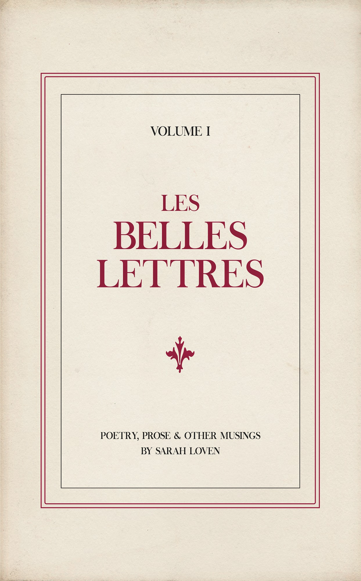 Les Belles Lettres - Poetry book by Sarah Loven