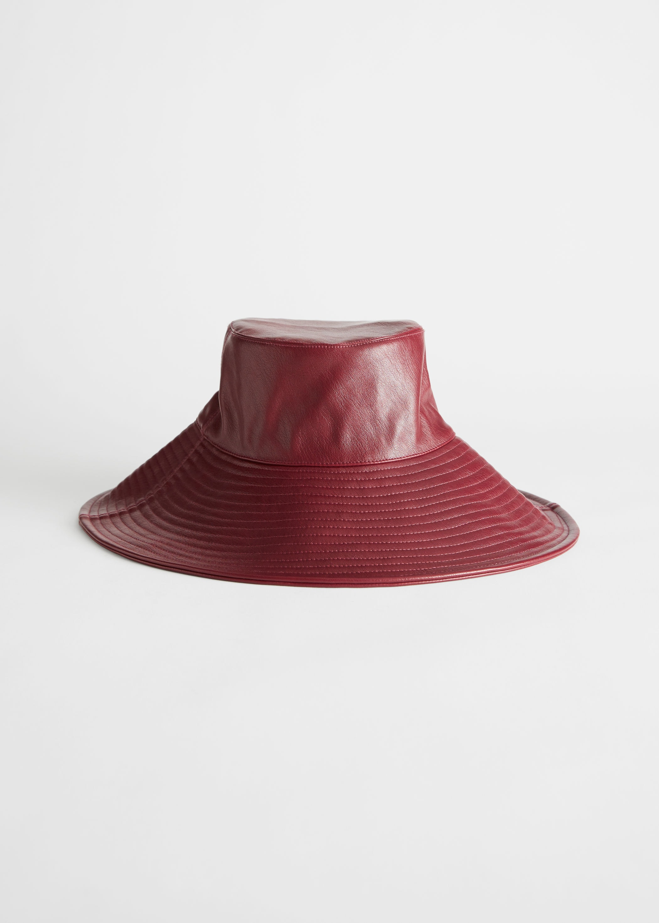 & Other Stories Leather Bucket Hat
