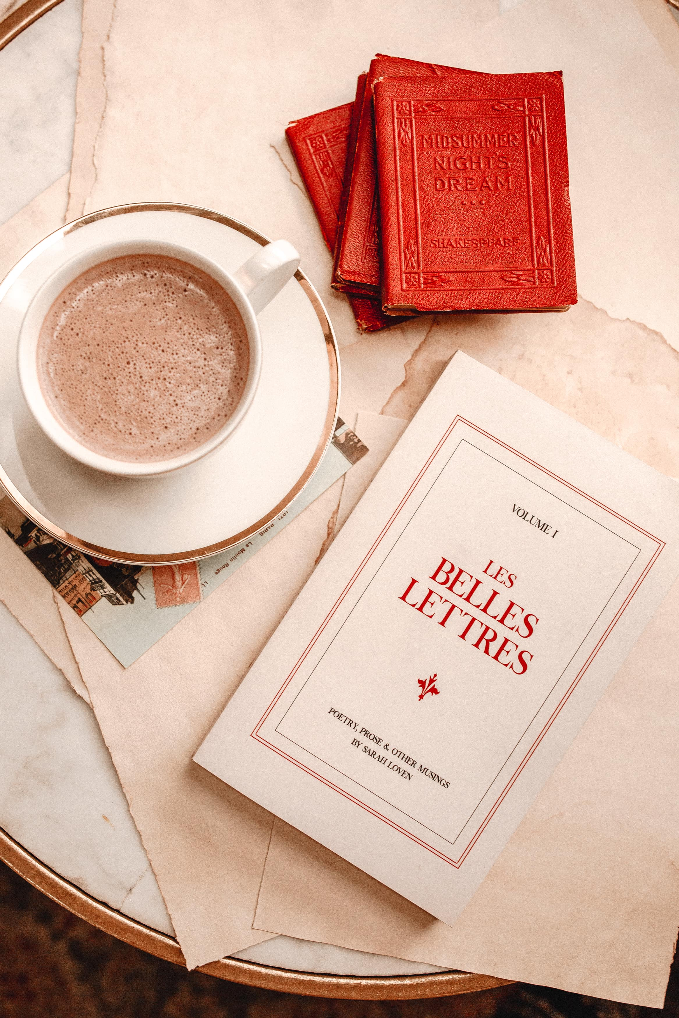 Les Belles Lettres book of poetry & prose by Sarah Loven